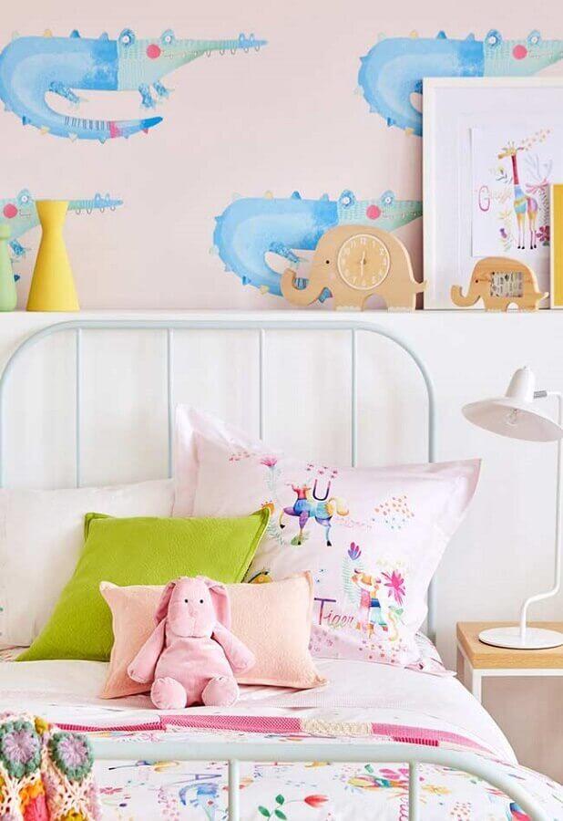 papel de parede para quarto de criança decorado em tons pastéis Foto Home Fashion Trend