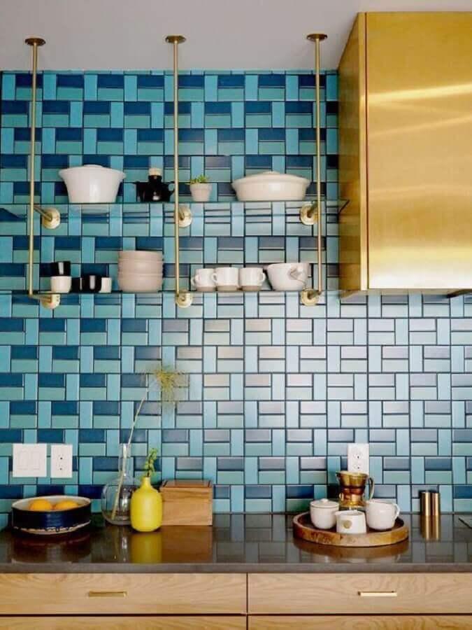 parede com metro white para decoração de cozinha Foto Pinterest