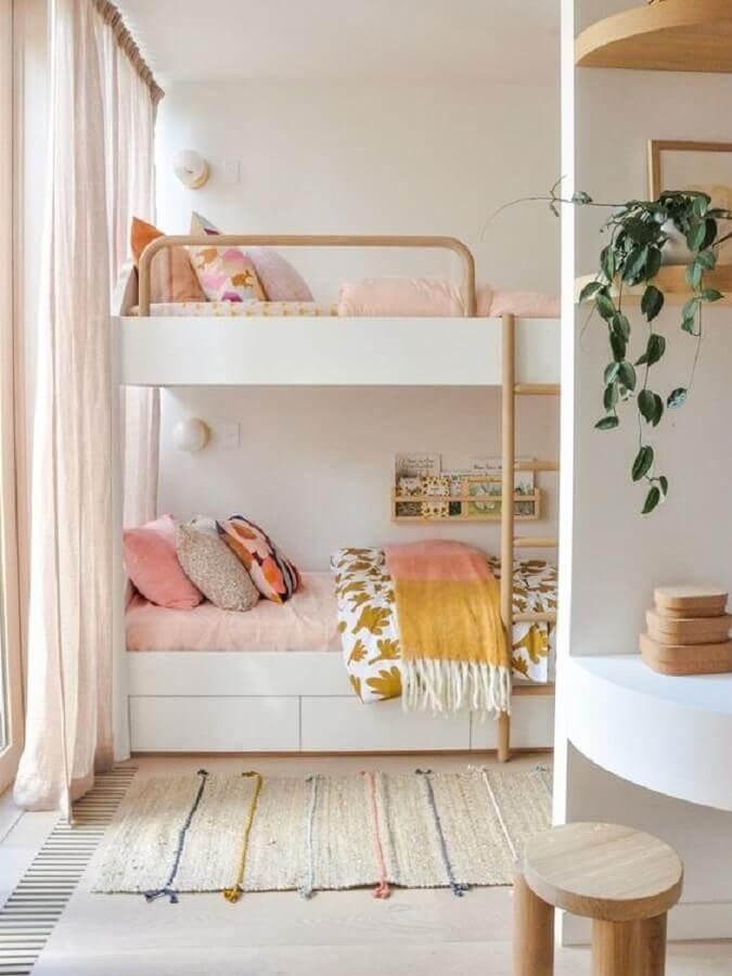passadeira para quarto infantil decorado com beliche planejada Foto Domino