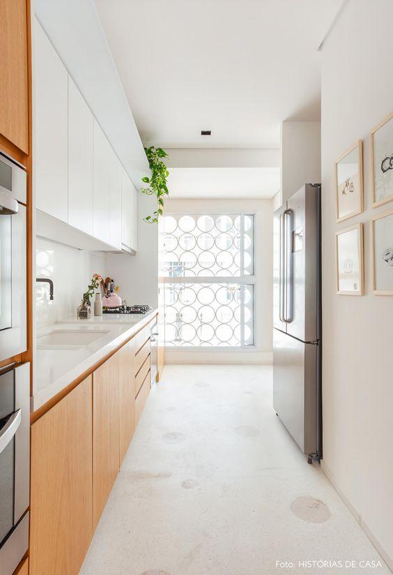 Piso na cozinha moderna