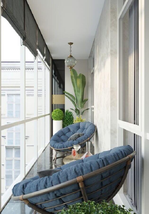 poltrona confortável para varanda pequena decorada Foto Homify