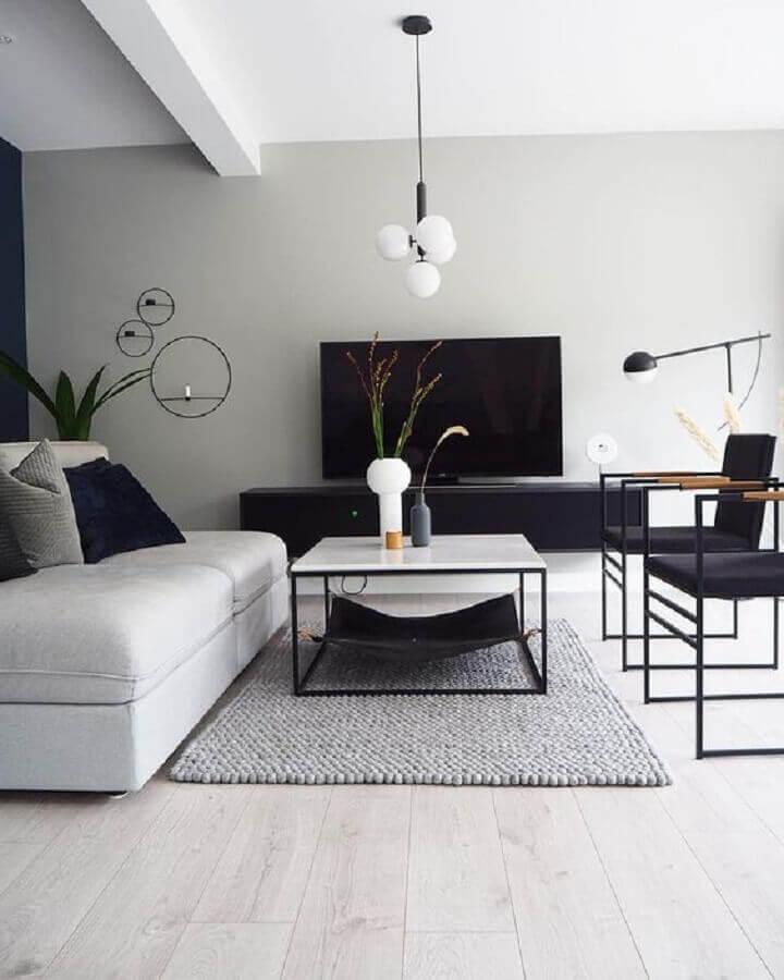 poltronas modernas para decoração de sala de tv minimalista Foto Futurist Architecture