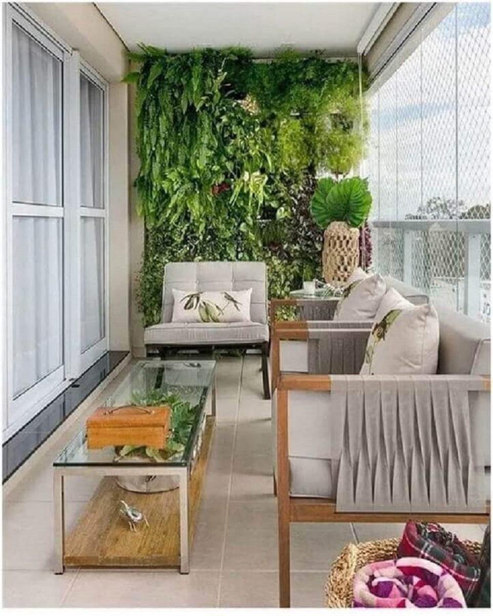 poltronas para varanda de apartamento decorado com jardim vertical Foto Fashion Bubbles