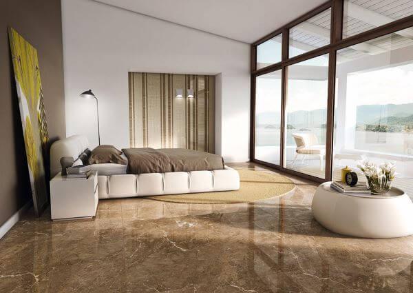 Tipos de porcelanato para sala de estar chique