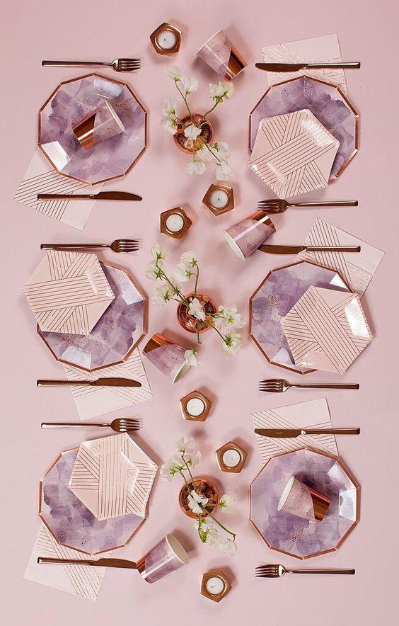Que tal os pratos hexagonais?