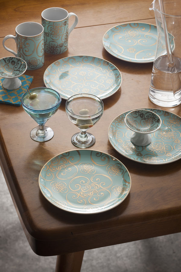 Pratos de porcelana chiques