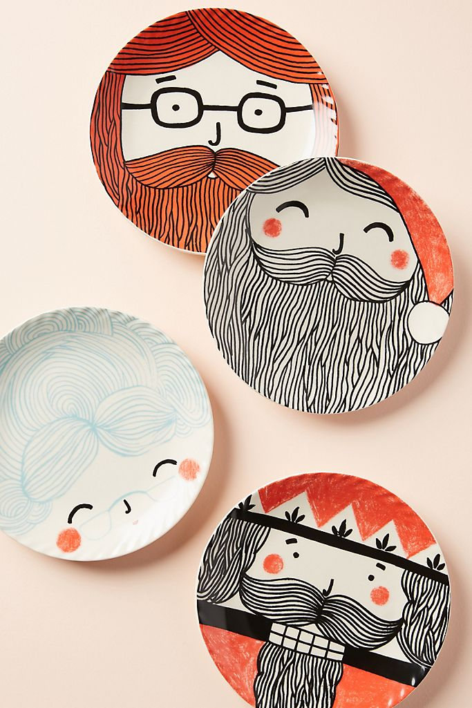 Pratos de porcelana temáticos para o natal