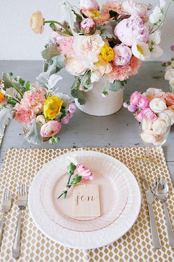 Mesa de jantar romântica