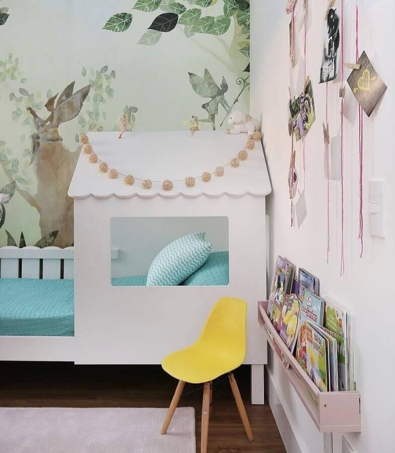 quarto para criança decorado com cama casinha Foto Eu Decoro