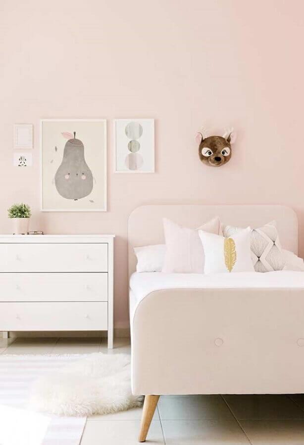 quarto para criança menina decorado em cor de rosa pastel Foto Cute & Paste