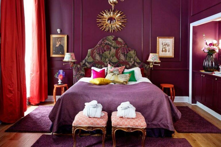 Quarto roxo moderno - Via: Casa Vogue