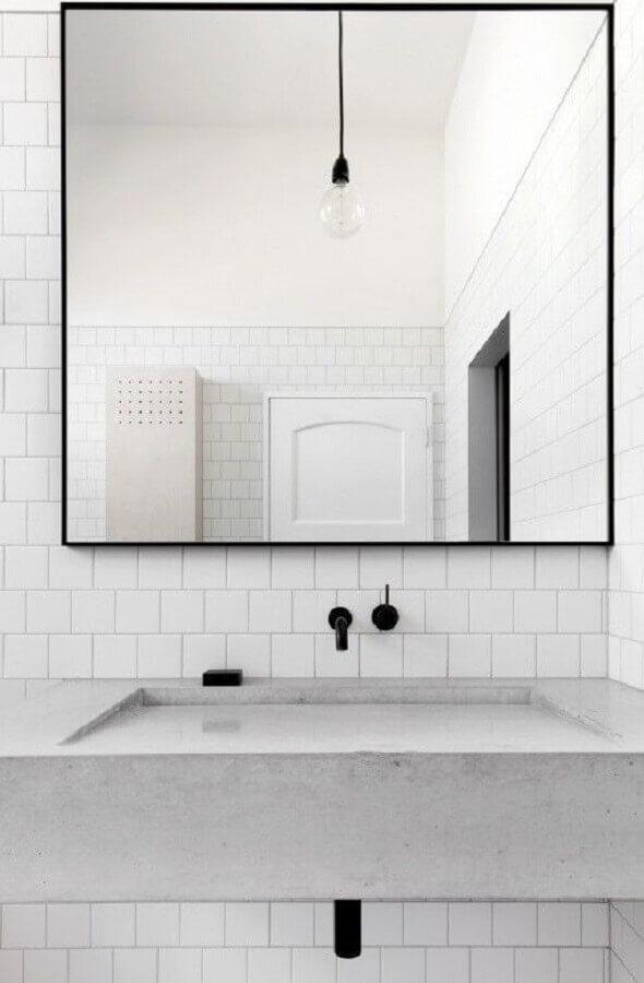revestimento cerâmico branco para decoração de banheiro Foto Manual da Obra