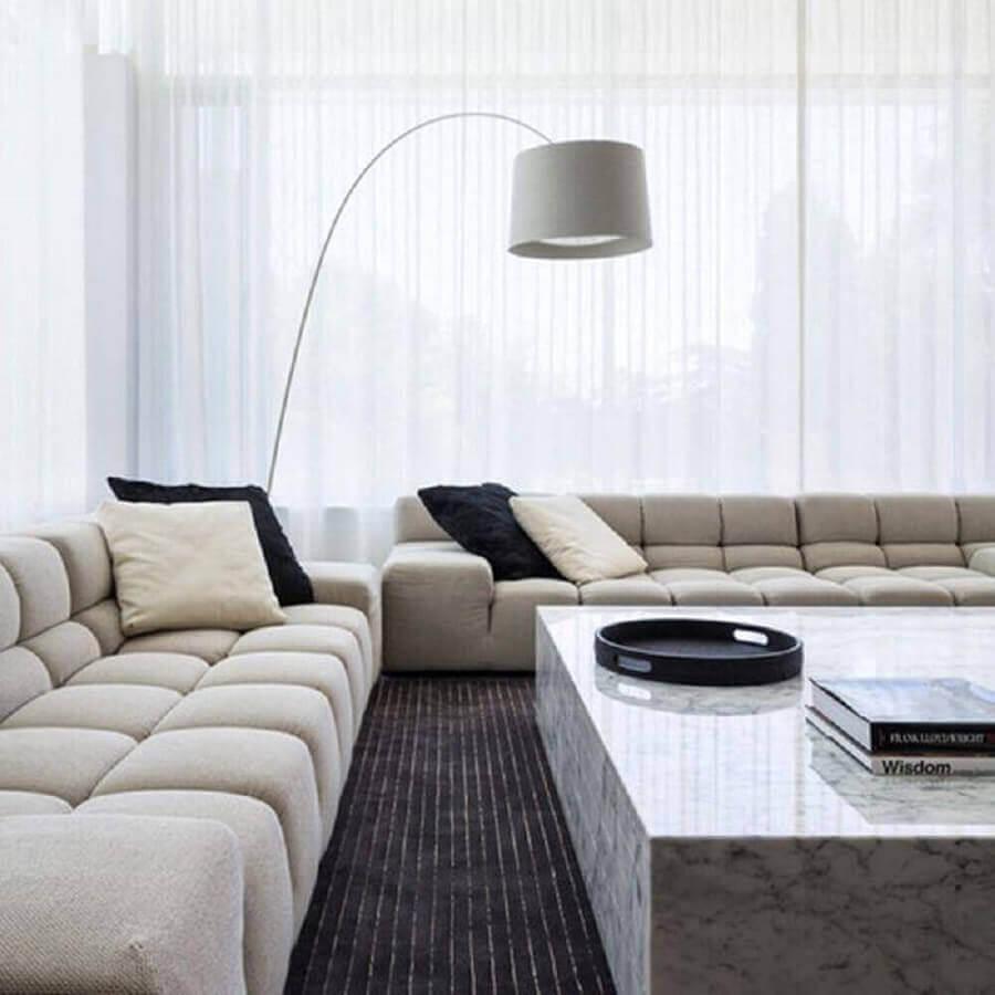 sofá grande confortável para sala minimalista e moderna Foto Behance