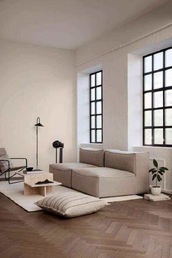 sofá modular para decoração de sala minimalista simples Foto Frenchy Fancy