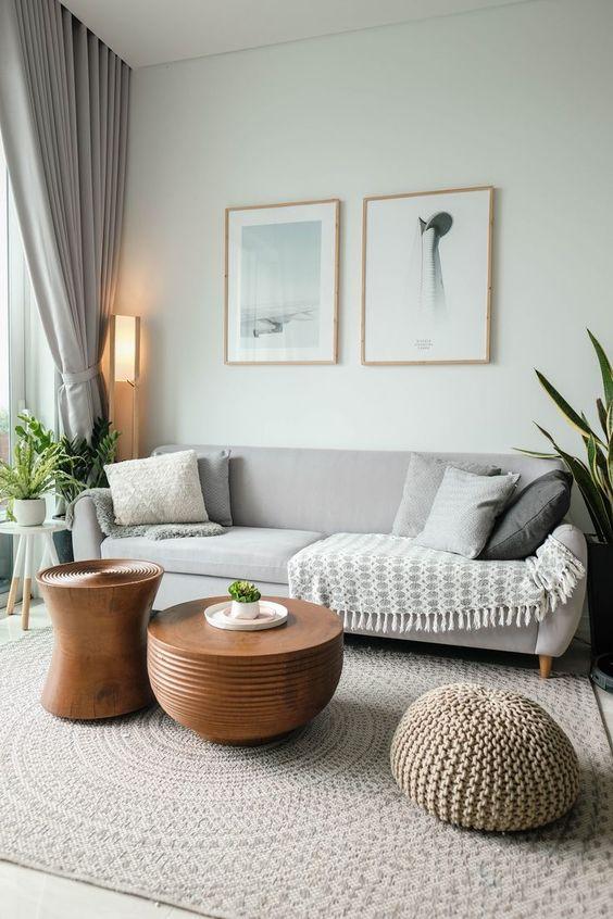 Sofá simples 3 lugares para sala moderna