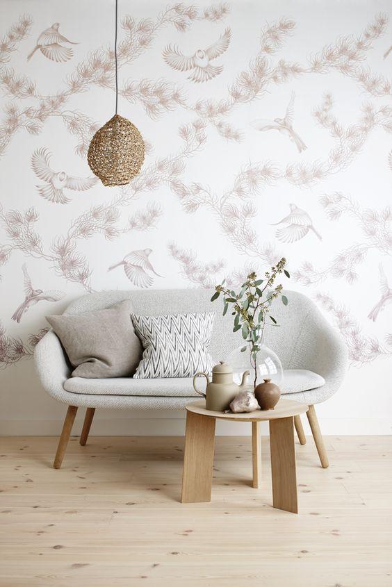 Sofá pequeno e simples estilo retrô