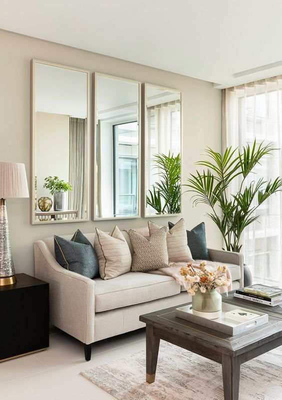 Sofá simples com 3 lugares
