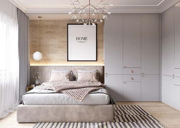 Quarto planejado decorado com o tapete escandinavo