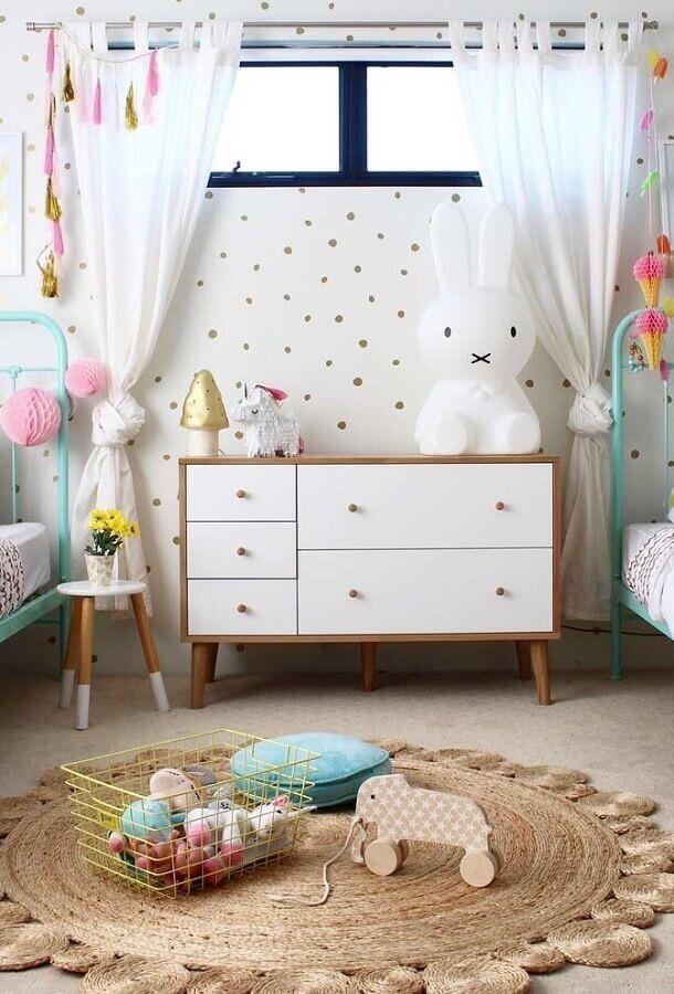 tapete redondo simples para decoração de quarto para criança Foto Archizine