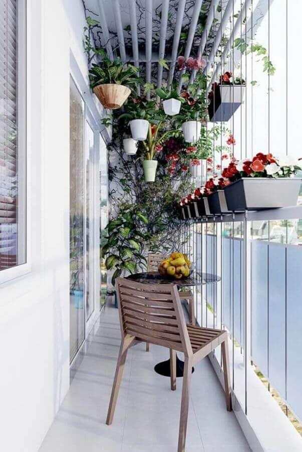vasos de plantas para varanda pequena e simples Foto Eu Decoro