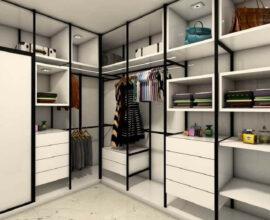 3 decoração de guarda roupa closet modulado Foto Arkpad