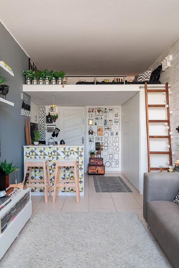 A cama mezanino é uma ótima alternativa para quem mora em casas pequenas