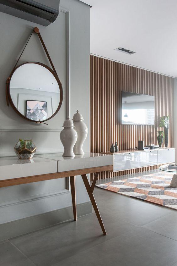 Aparador retro na sala moderna