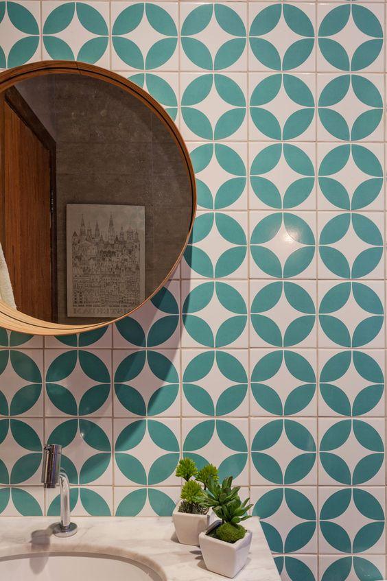 Azulejo retro geométrico