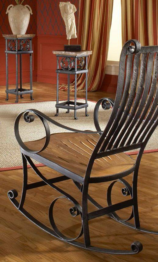 Cadeira de ferro de balanço