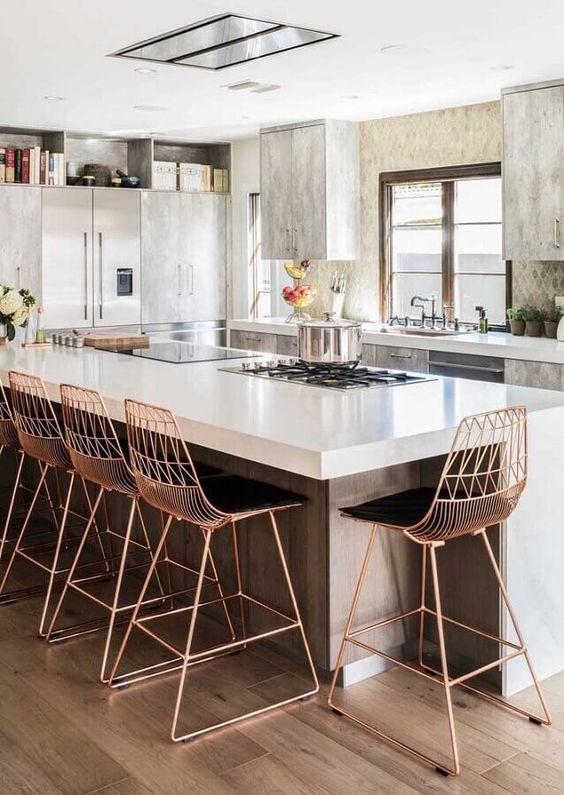 Cadeira de ferro para cozinha moderna