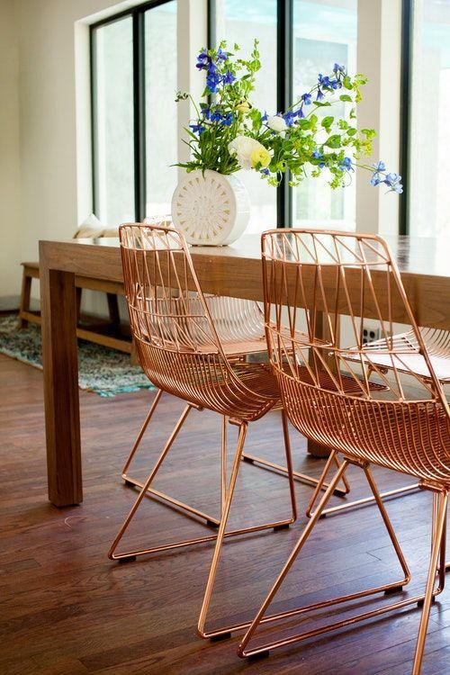 Cadeira de ferro para mesa de jantar