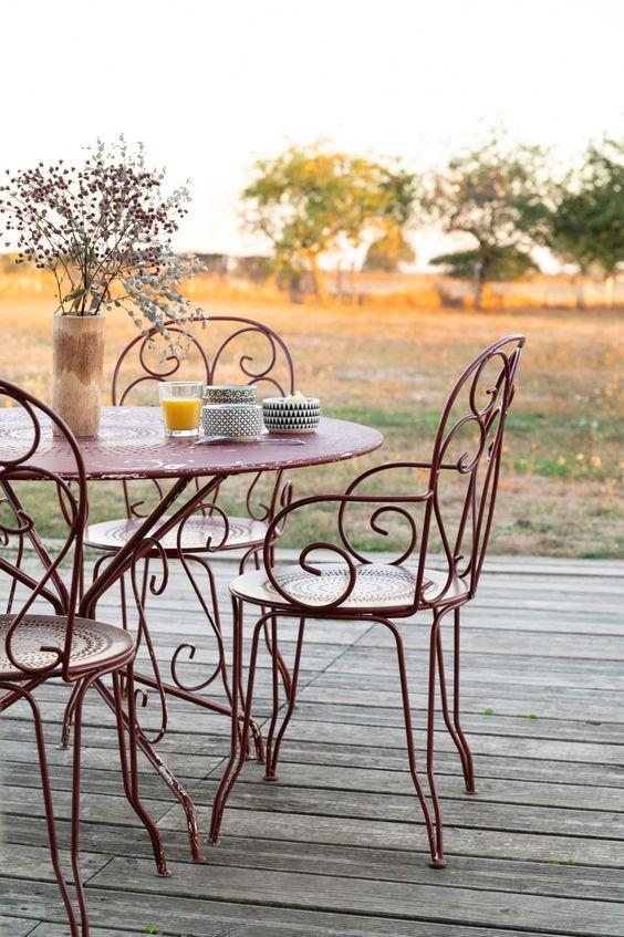 Cadeira de ferro para sala de jantar