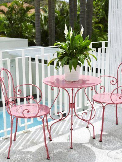Cadeira de ferro para varanda