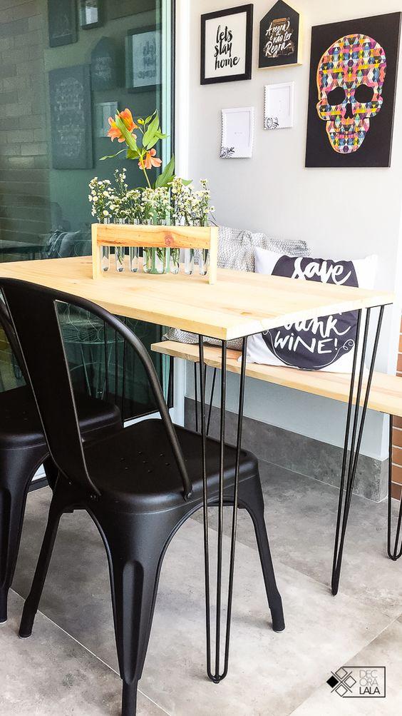Cadeira de ferro preto para sala de jantar