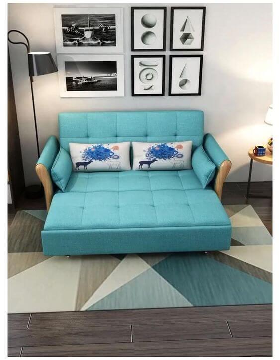 Capa de sofá azul retrátil