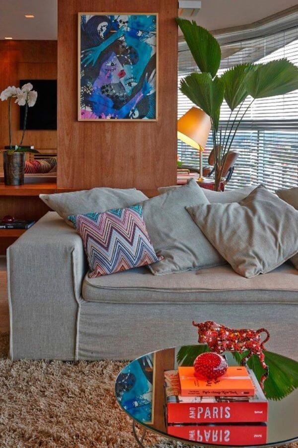 Capa de sofá cinza moderna