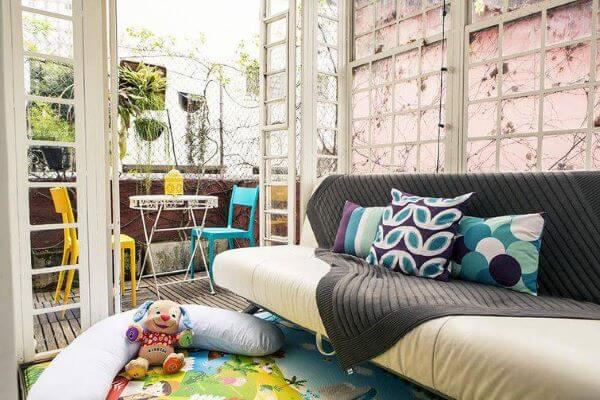 Capa de sofá para sala com crianças