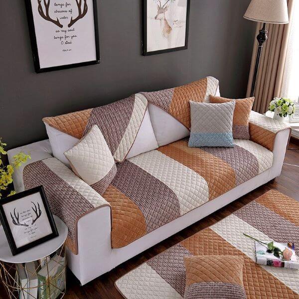 Capa para sofá pequeno estampado