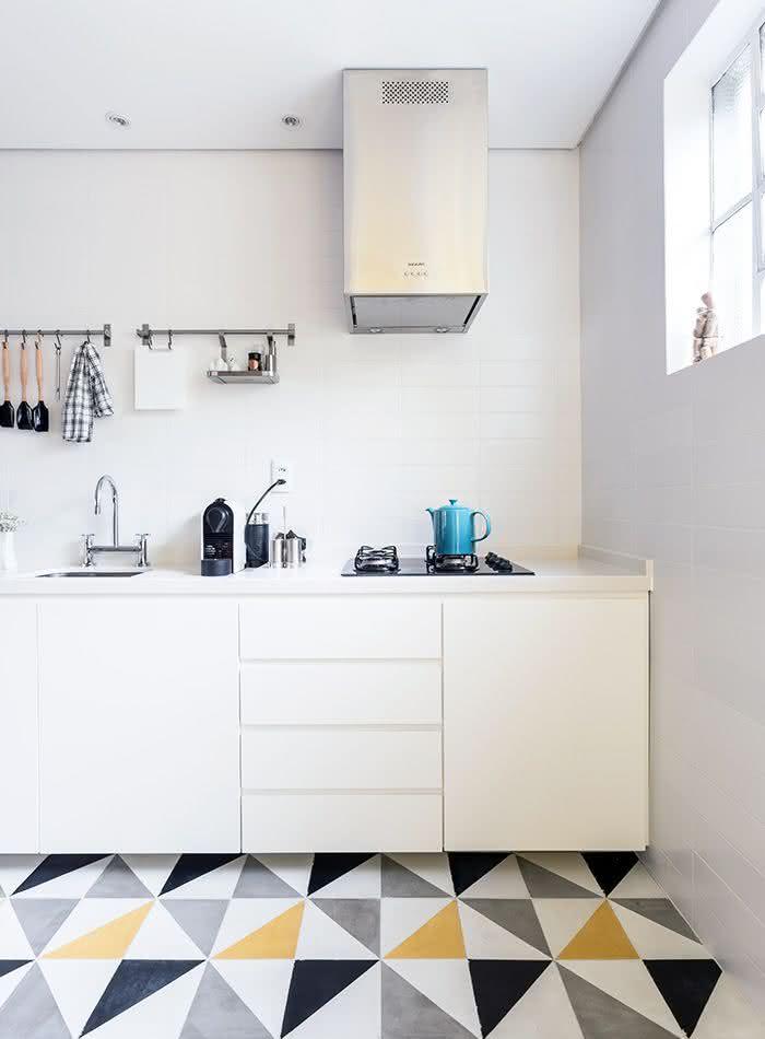 Cerâmica para cozinha com formato geométrico