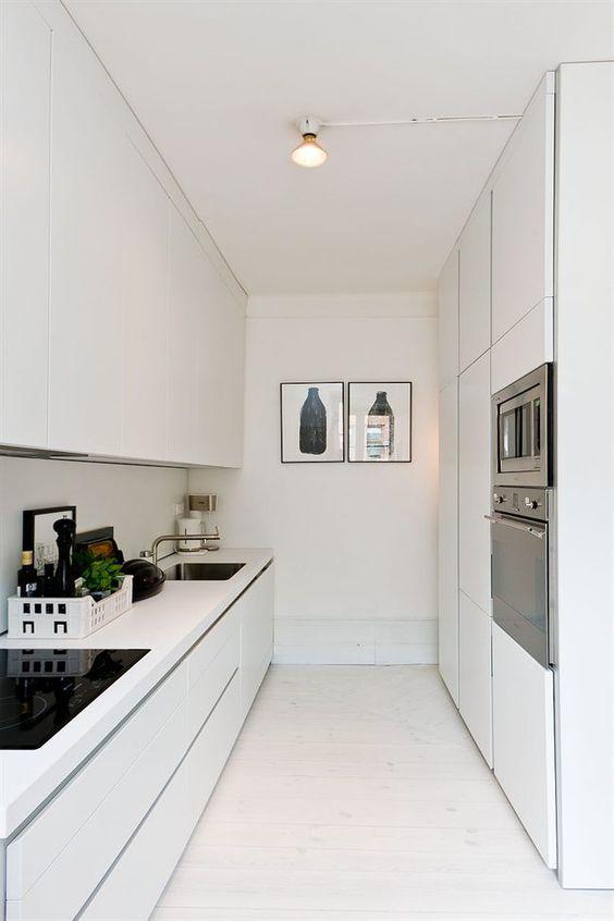 Cerâmica para cozinha com piso branco