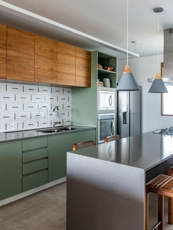 Cores de laca para móveis verde