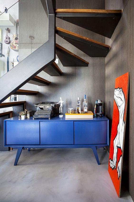Cores de móveis azuis
