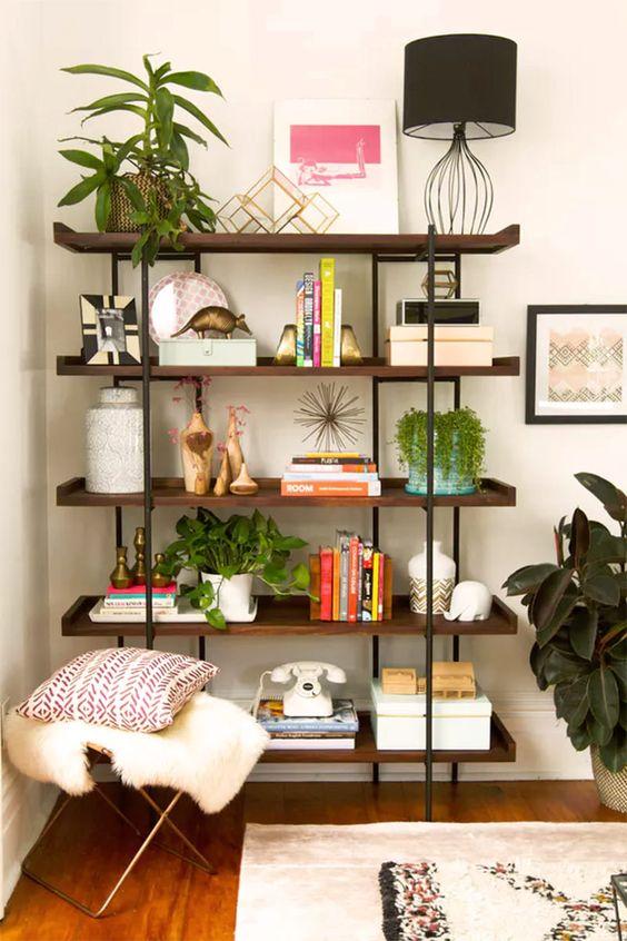Cores de móveis de madeira para sala