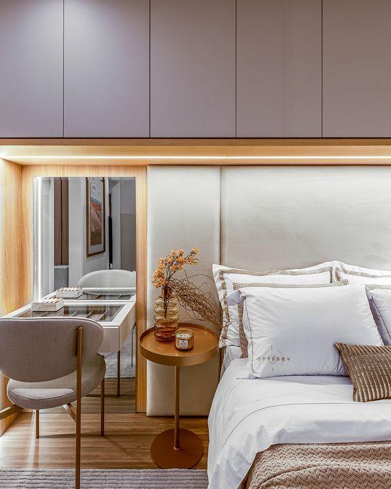 Cores de móveis para quarto moderno com penteadeira