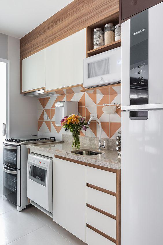 Cores de móveis planejados para cozinha moderna