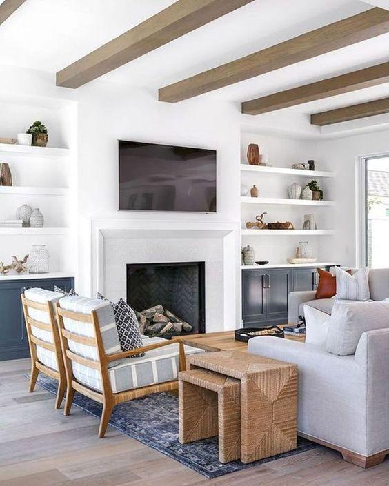 Cores de móveis planejados para sala de estar