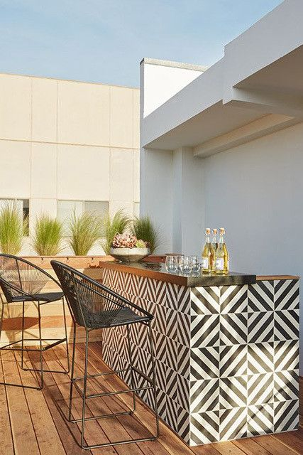 Cozinha gourmet com azulejo retro