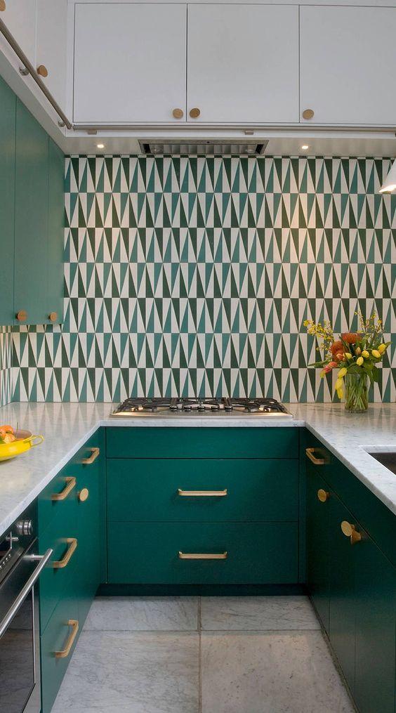 Cozinha verde moderna