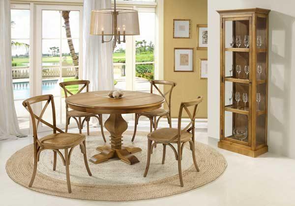Cristaleira pequena de madeira para sala de jantar rustica