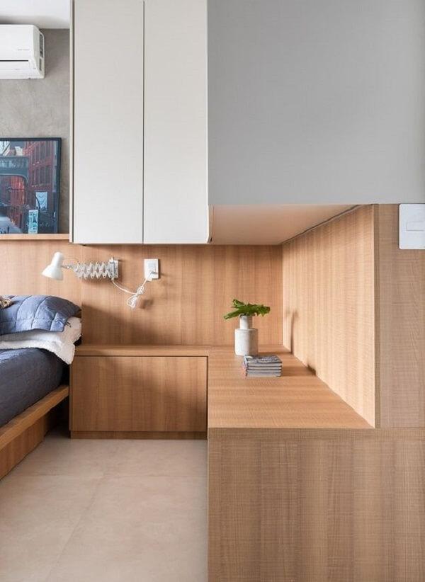 Guarda-roupa embutido com cama: aproveite todos os cantinhos do seu projeto